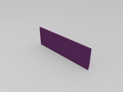 尺子  直尺-3d打印模型