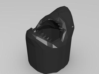 鲨鱼笔筒-3d打印模型