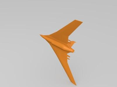 科幻飞机-3d打印模型