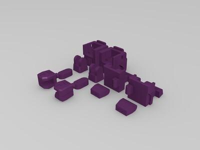 G1 Q版擎天柱2.0  可变形-3d打印模型