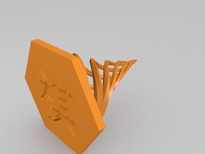 六角螺旋塔-3d打印模型