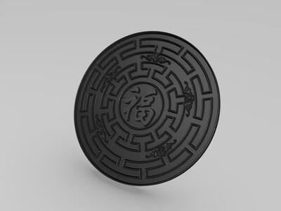 各种类型福浮雕钱币徽章模型财源滚滚-3d打印模型