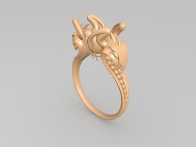 蛇形戒-3d打印模型