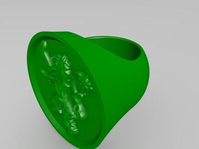 冰与火之歌--权力的游戏   七大家族的戒指-3d打印模型