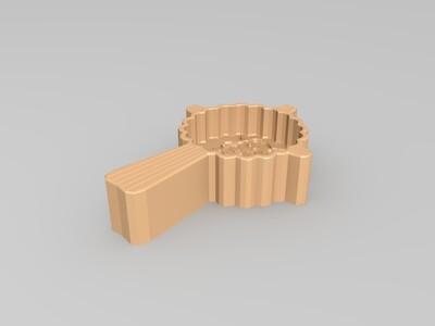 食品制作月饼饼干灰太狼喜羊羊模具-3d打印模型