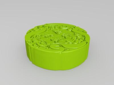 老公老婆-月饼-3d打印模型