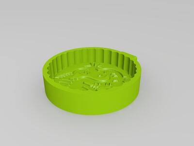 十二生肖-龙-月饼模具-3d打印模型