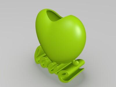 创意个性化爱心花盆花瓶3D版-3d打印模型
