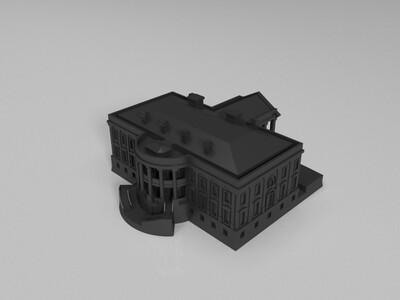 美国政府建筑-3d打印模型