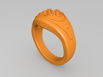 中国结 联通 戒指 钻戒-3d打印模型