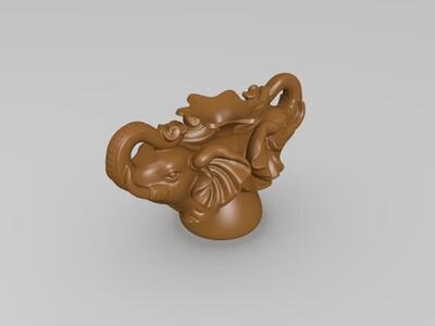 大象花瓶-3d打印模型