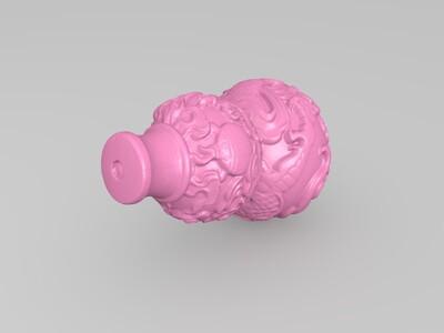龙纹葫芦-3d打印模型