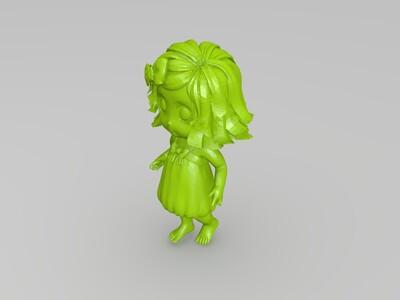 海边的小女孩-3d打印模型
