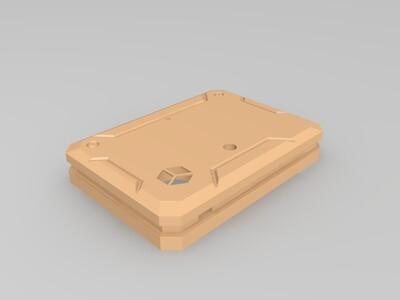 钢铁侠风格直列四缸发动机模型底座-3d打印模型