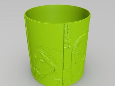 自定义浮雕照片台灯-3d打印模型
