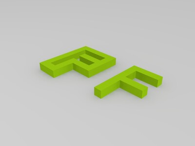 F模型-3d打印模型