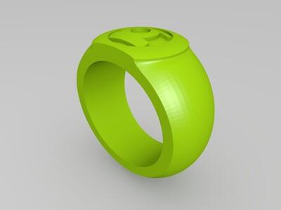 闪电侠绿灯侠戒指-3d打印模型