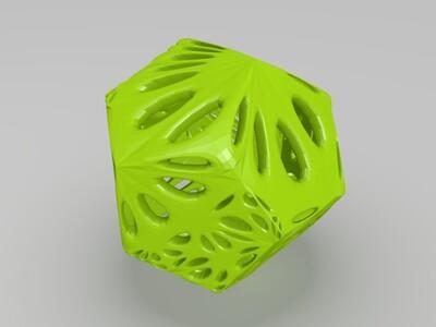 多面体镂空-3d打印模型