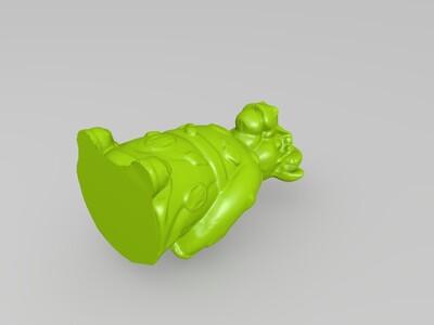 十二生肖拟人像牛-3d打印模型