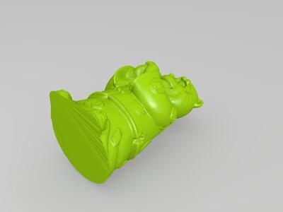 十二生肖拟人像猴-3d打印模型