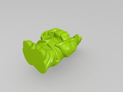 十二生肖拟人像鸡-3d打印模型
