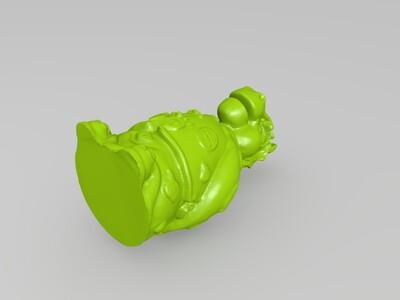 十二生肖拟人像马-3d打印模型