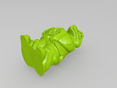 十二生肖拟人像蛇-3d打印模型