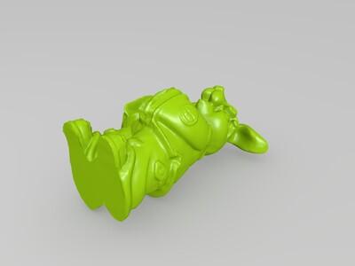 十二生肖拟人像兔-3d打印模型