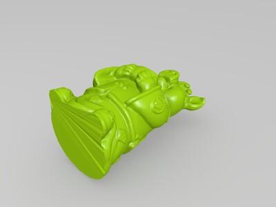 十二生肖拟人像猪-3d打印模型