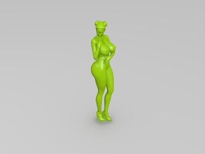 人体线条-3d打印模型