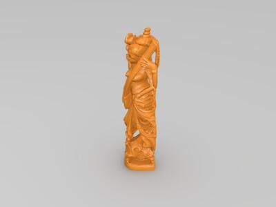 45度仰望黄金鸡-3d打印模型