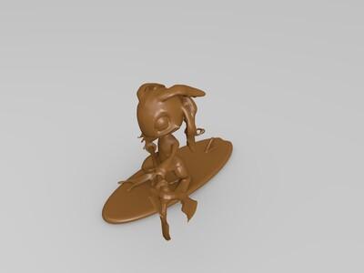 英雄联盟-lol-潮汐海灵菲兹-鲨鱼-3d打印模型
