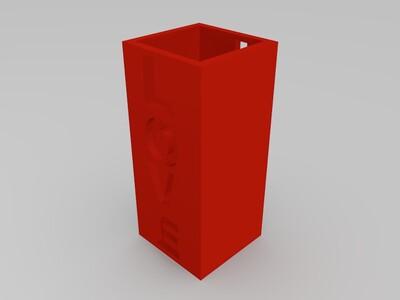 love花瓶-3d打印模型