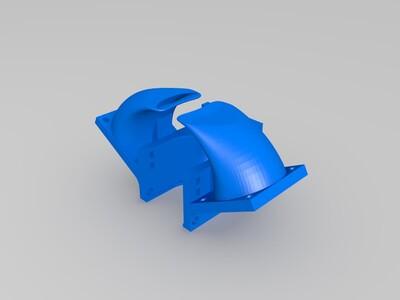 3010三风扇冷却风道-3d打印模型