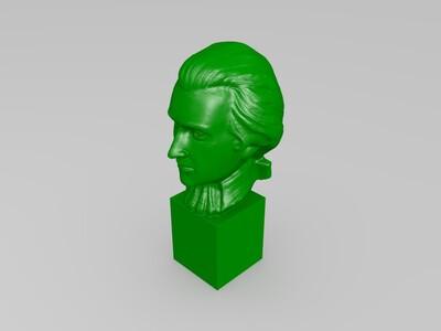 莫扎特雕塑-3d打印模型