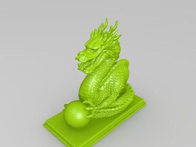 龙戏珠-3d打印模型