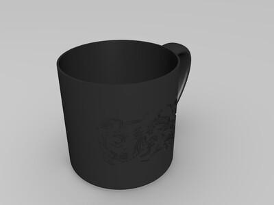 龙纹杯-3d打印模型