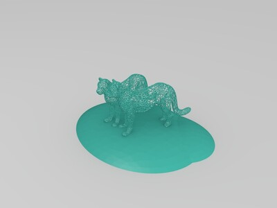 镂空的豹子-3d打印模型