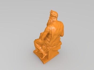 长胡子老者-3d打印模型