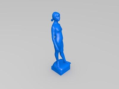 女性雕像-3d打印模型