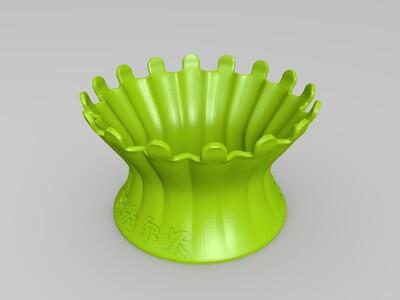 多肉附送个花盆-3d打印模型
