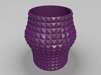 原创多肉可沥水花盆-3d打印模型