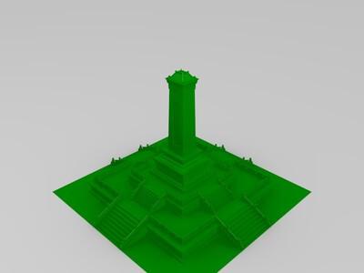 人民英雄纪念碑-3d打印模型