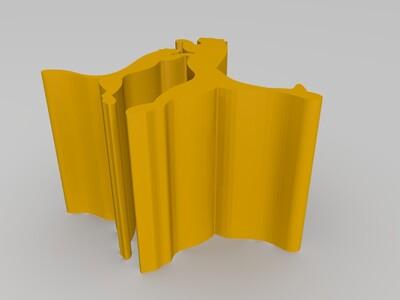 豹形手机支架-3d打印模型