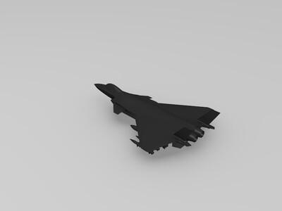 国产量产版j-20战斗机打印模型-3d打印模型