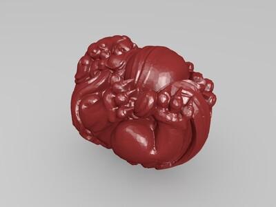 手把件狮子绣球有求必应-3d打印模型