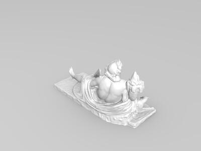 拿刀的男子雕塑-3d打印模型