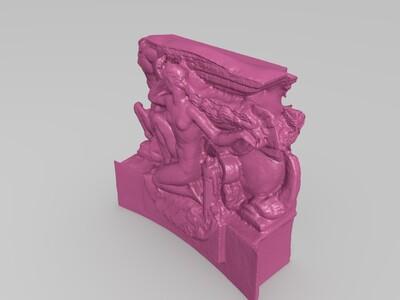 瓦朗谢纳的雕塑-3d打印模型