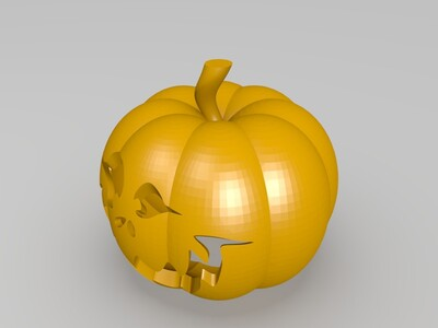 万圣节的南瓜灯-3d打印模型
