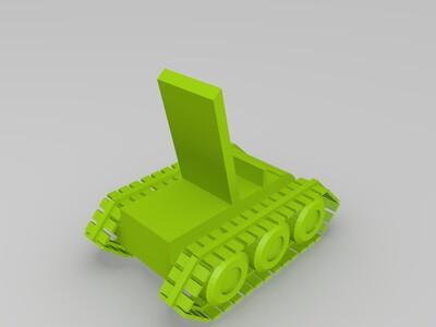 坦克手机支架-3d打印模型
